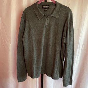 Eddie Bauer Classic Long Sleeve Polo Shirt, Large